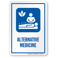 Alternative Medicine Sign with Natural Medical Therapies Symbol