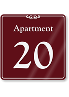 Apartment Number 20 Wall Sign