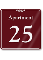 Apartment Number 25 Wall Sign