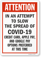 Attention Credit Card Apple Pay Google Pay Only Sign
