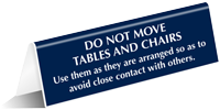 Avoid Close Contact With Others Tent Sign