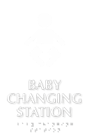 Baby Changing Station TactileTouch Braille Sign