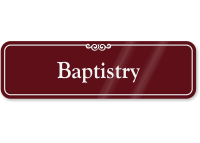 Baptistry ShowCase Wall Sign