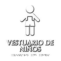 Vestuario de Niños Braille Spanish Sign