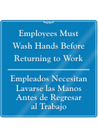 Bilingual Employees Must Wash Hands ShowCase Wall Sign