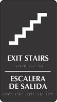 Bilingual Exit Stairs, Escalera De Salida Sign