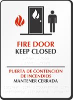 Fire Door Keep Closed (bilingual) Sign