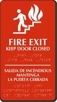 Fire Exit Keep Door Closed (bilingual) Sign