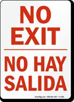 Bilingual No Exit No Hay Salida Sign