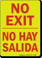 Bilingual No Exit No Hay Salida Glow Sign