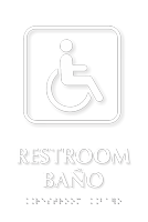 Bilingual Restroom-Bano TactileTouch Braille Sign