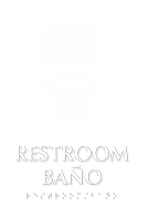 Bilingual Restroom TactileTouch Braille Sign