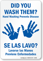Bilingual Did You Wash Them? Sign