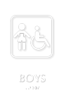 Boys TactileTouch Braille Sign with ADA Symbol