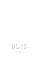 Boys TactileTouch Braille Restroom Sign