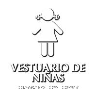 Vestuario De Niñas Spanish Braille Sign