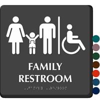 Family Restroom Men, Women, Child Sign