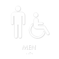 Restroom Accessible Men Sign