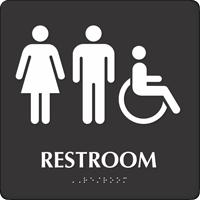 Restroom Men / Women Sign