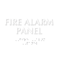 Fire Alarm Panel ADA Sign with Braille
