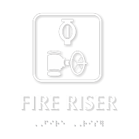 Fire Riser TactileTouch™ Sign with Braille