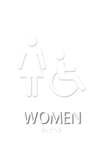 Women, with Women/ISA Handicapped Graphic Braille Sign