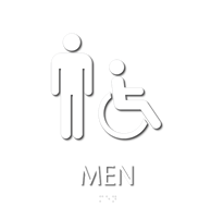 Men, with Men/ISA Handicapped Graphic Braille Sign
