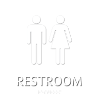 Restroom, with Male/Female Graphic and Braille