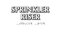 Sprinkler Riser TactileTouch™ Sign with Braille