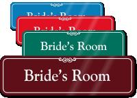 Bride's Room ShowCase Wall Sign