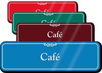Café Showcase Hospital Sign