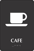 Café TactileTouch Braille Sign