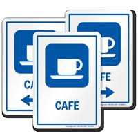 Café Sign With Cup and Saucer Symbol