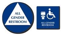 California Wall Door All-Gender Restroom, 2 Signs/Kit