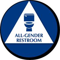 California All-Gender Sintra Restroom Door Sign