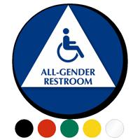 California All-Gender Restroom, Toilet ISA Symbol Sign
