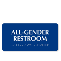 California All-Gender Restroom Sign with Braille