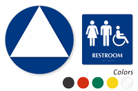 ISA Women Men Pictograms Restroom Sign