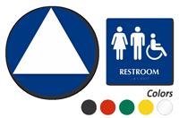 ISA Women Men Pictograms Restroom Sign