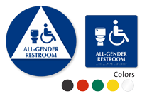 California All-Gender Restroom ISA Symbol, 2 Signs/Kit