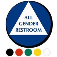 California All Gender Sintra Restroom Door Sign