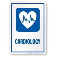 Cardiology Hospital Sign with Heart's ECG Symbol