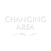 Changing Area TactileTouch™ Sign with Braille