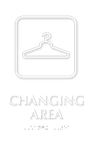 Changing Area Symbol TactileTouch™ Sign with Braille