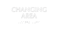 Changing Area Tactile Touch Braille Sign