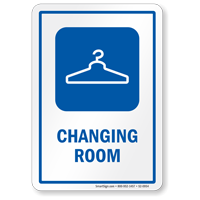 Changing Room Sign With Hanger Symbol