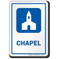 Chapel Prayer Room Sign with Church Symbol
