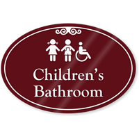Childrens Bathroom ShowCase Sign