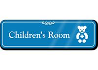 Children's Room Hospital Showcase Sign