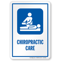 Chiropractic Care Hospital Sign with Symbol